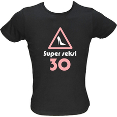 Majica ženska (telirana)-Super seksi 30 S-črna
