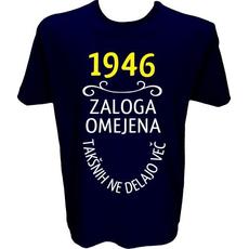 Majica-1946, zaloga omejena, takšnih ne delajo več XL-temno modra