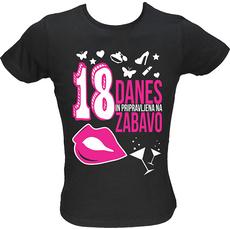 Majica ženska (telirana)-Danes 18 L-črna