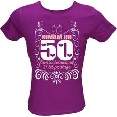 Majica ženska (telirana)-Nimam jih 50 M-vijolična