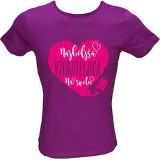 Majica ženska (telirana)-Najboljša vzgojiteljica na svetu L-vijolična