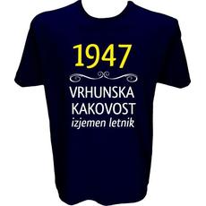Majica-1947, vrhunska kakovost, izjemen letnik M-temno modra