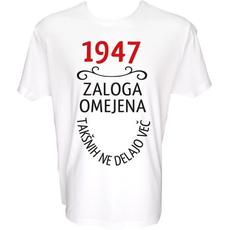 Majica-1947, zaloga omejena, takšnih ne delajo več L-bela