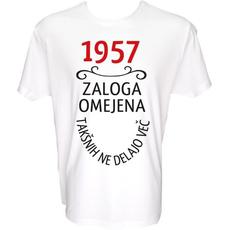 Majica-1957, zaloga omejena, takšnih ne delajo več L-bela