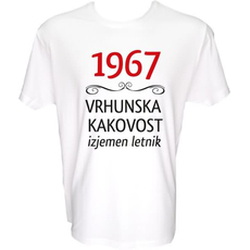 Majica-1967, vrhunska kakovost, izjemen letnik XL-bela