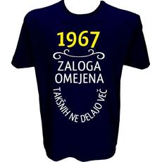 Majica-1967, zaloga omejena, takšnih ne delajo več XXL-temno modra