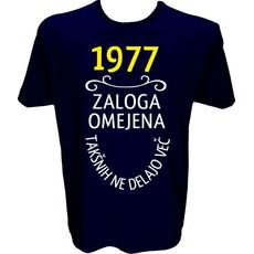 Majica-1977, zaloga omejena, takšnih ne delajo več L-temno modra