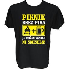 Majica-Piknik brez piva XXL-črna