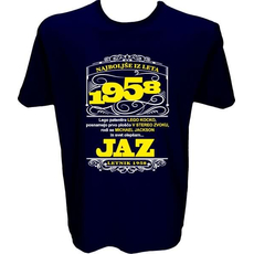 Majica-Najboljše iz leta 1958 XXL-temno modra