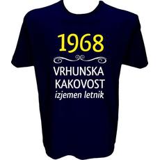 Majica-1968, vrhunska kakovost, izjemen letnik XXL-temno modra