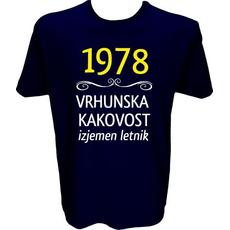 Majica-1978, vrhunska kakovost, izjemen letnik M-temno modra