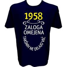Majica-1958, zaloga omejena, takšnih ne delajo več XXL-temno modra