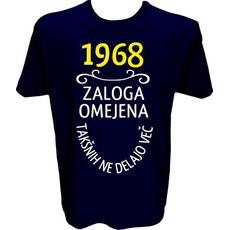 Majica-1968, zaloga omejena, takšnih ne delajo več XL-temno modra