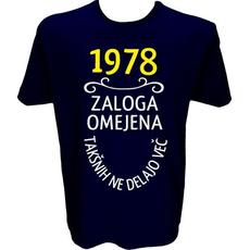 Majica-1978, zaloga omejena, takšnih ne delajo več XL-temno modra