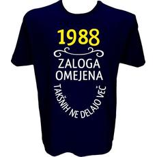 Majica-1988, zaloga omejena, takšnih ne delajo več L-temno modra