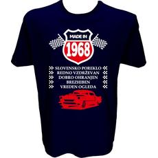 Majica-Made in 1968 avto XXL-temno modra
