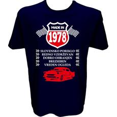 Majica-Made in 1978 avto XL-temno modra