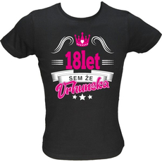 Majica ženska (telirana)-Sem že vrhunska 18 S-črna