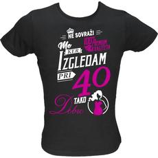 Majica ženska (telirana)-Ne sovraži me 40 L-črna