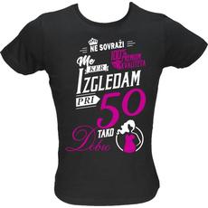 Majica ženska (telirana)-Ne sovraži me 50 XL-črna