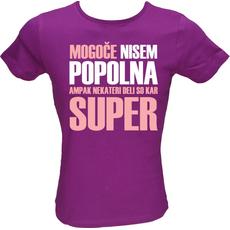 Majica ženska (telirana)-Mogoče nisem popolna S-vijolična