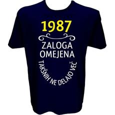 Majica-1987, zaloga omejena, takšnih ne delajo več