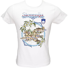 Majica ženska (telirana)-Slovenija zemljevid