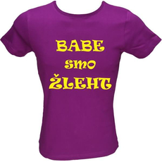 Majica ženska (telirana)-Babe smo žleht
