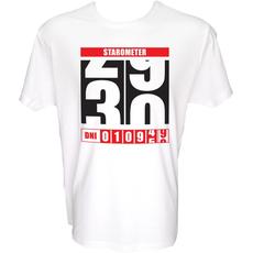 Majica-Starometer 30 XXL-bela