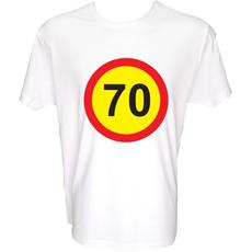 Majica-Prometni znak 70 Let XXL-bela