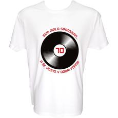 Majica-Sem malo spraskan-plošča 70 XL-bela