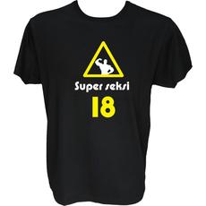Majica-Super seksi 18 XXL-črna