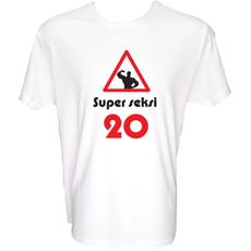 Majica-Super seksi 20 XXL-bela