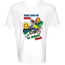 Majica-Vsak dan na kolo za zdravo telo M-bela