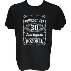 Majica-Živa legenda 30 L-črna