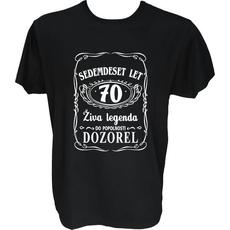Majica-Živa legenda 70 L-črna