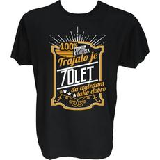Majica-Trajalo je 70 let, Premium L-črna
