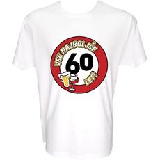 Majica-Vse najboljše 60, prometni znak L-bela
