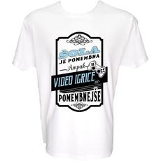 Majica-Šola je pomembna, video igrice so pomembnejše XXL-bela