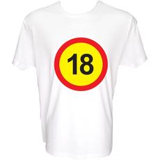 Majica-Prometni znak 18 Let XXL-bela