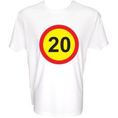 Majica-Prometni znak 20 Let XL-bela