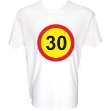 Majica-Prometni znak 30 Let XXL-bela
