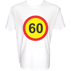 Majica-Prometni znak 60 Let XXL-bela