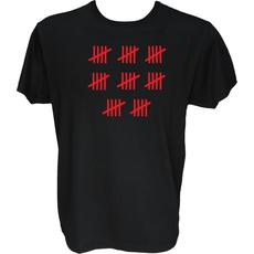 Majica-Štetje črtic 40 Let XXL-črna