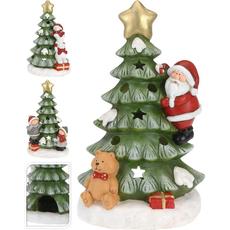 Stojalo za svečko iz polimase, božični motiv, 45cm, sort.