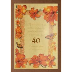 Diploma ROJSTNI DAN, Naj sonce sreče, lilija, 40, (36x25cm)