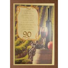 Diploma ROJSTNI DAN, Vse najboljše, sod, 90, (36x25cm)