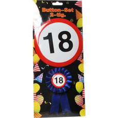 Set broške in kokarde, prometni znak 18, 15cm