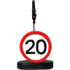 """Prometni znak iz polimase z kovinsko ščipalko """"20"""", 9cm"""