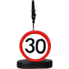 """Prometni znak iz polimase z kovinsko ščipalko """"30"""", 9cm"""